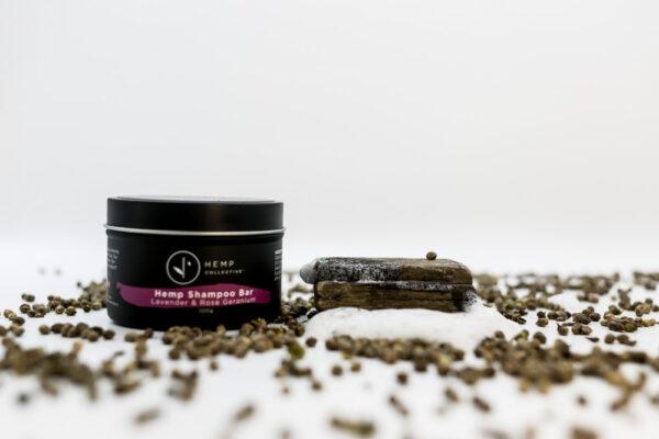 Hemp Shampoo Bar – Lavender & Rose Geranium